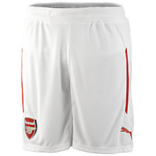 Buy Puma Boy's Arsenal Replica Home Shorts 2014/2015, White Online at johnlewis.com