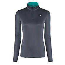 Buy Puma Women's Brush Long Sleeve Running Top, Grey Online at johnlewis.com