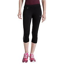 Buy Puma FASS 3/4 Length Running Tights, Black Online at johnlewis.com
