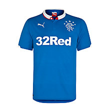 Buy Puma Men's Glasgow Rangers Replica Home Shirt 2014/2015, Blue Online at johnlewis.com