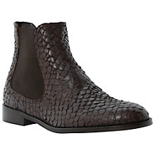 Buy Dune Black Pacca Leather Ankle Boots Online at johnlewis.com