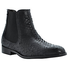 Buy Dune Black Pacca Leather Ankle Boots, Black Online at johnlewis.com