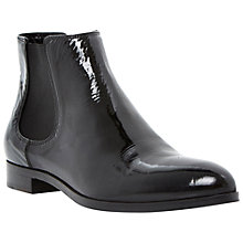 Buy Dune Black Pedlow Leather Flat Ankle Boots Online at johnlewis.com