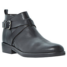 Buy Dune Black Prudence Leather Ankle Boots Online at johnlewis.com