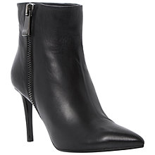 Buy Dune Black Panda Leather Stiletto Heeled Ankle Boots Online at johnlewis.com