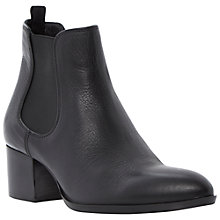 Buy Dune Black Perky Chelsea Leather Boots, Black Online at johnlewis.com