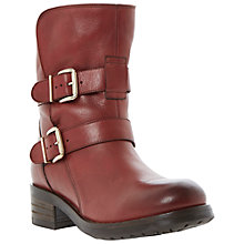 Buy Dune Black Peggy Leather Block Heeled Ankle Boots Online at johnlewis.com