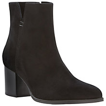 Buy Dune Black Paislie Suede Ankle Boots, Black Online at johnlewis.com
