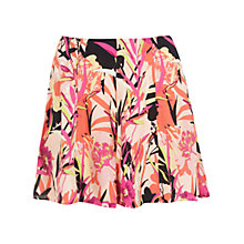 Buy Miss Selfridge Palm Print Skort, Orange Online at johnlewis.com