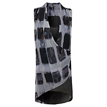 Buy Mint Velvet Marnie Print Tunic, Black/Grey Online at johnlewis.com