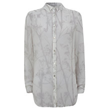 Buy Mint Velvet Wynter Print Blouse, Ivory / Pearl Grey Online at johnlewis.com