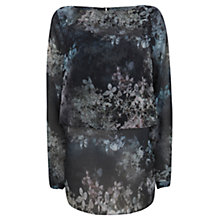Buy Mint Velvet Ami Print Cape Blouse, Multi Online at johnlewis.com