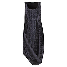 Buy Mint Velvet Katy Print Draped Cocoon Dress, Black / Slate Online at johnlewis.com