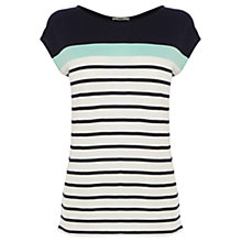 Buy Oasis Bretton Stripe Tee, Multi Blue Online at johnlewis.com