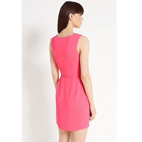 Buy Oasis Lola Cowl Crepe Dress, Bright Pink Online at johnlewis.com