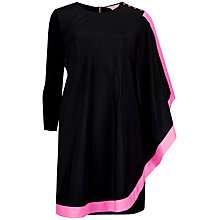 Buy Ted Baker Long Sleeved One Sided Draped Tunic Dress, Bright Pink Online at johnlewis.com
