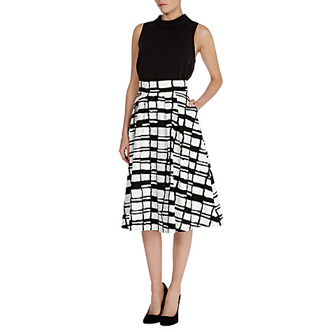 Buy Coast Irris Check Skirt, Mono Online at johnlewis.com