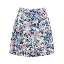 Buy Oasis Botanical Budlia Print Skirt, Multi/Blue Online at johnlewis.com