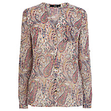 Buy Oasis Chiffon Paisley Shirt, Muilt Online at johnlewis.com