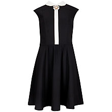 Buy Ted Baker Broach Detail Collared Dress, Black Online at johnlewis.com