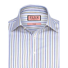 Buy Thomas Pink Yorkton Stripe Shirt, White/Yellow Online at johnlewis.com