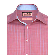 Buy Thomas Pink Crome Check Shirt, Red/Blue Online at johnlewis.com