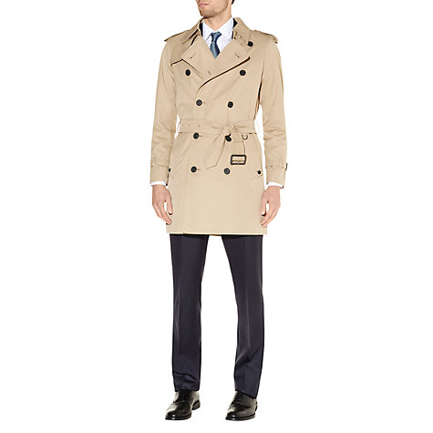 Buy Aquascutum Corby Double Breasted Raincoat, Camel Online at johnlewis.com