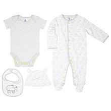 Buy John Lewis Baby Sheep Romper Outfit & Accessories, White Online at johnlewis.com