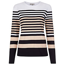Buy Hobbs Emily T-Shirt, Nude/Multi Online at johnlewis.com