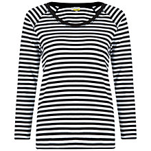 Buy NW3 by Hobbs Mia Top, Black/White Online at johnlewis.com