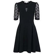 Buy French Connection Valentine Viscose Lace Dress, Black Online at johnlewis.com