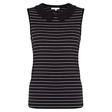 Buy Hobbs Georgia Top, Navy/Ivory Online at johnlewis.com