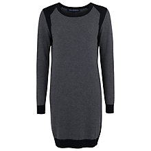 Buy French Connection Bambino Knit Dress, Dark Grey Melange/Black Online at johnlewis.com