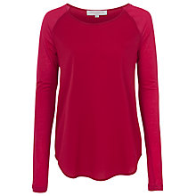 Buy French Connection Polly Plains Top, Berry Punch Online at johnlewis.com