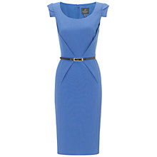 Buy Adrianna Papell Belted Shift Dress, Blue Online at johnlewis.com
