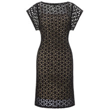 Buy Adrianna Papell Floral Shift Dress, Black/Ivory Online at johnlewis.com