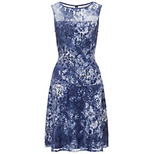 Buy Adrianna Papell Fit and Flare Seam Lace Dress, Blue/Multi Online at johnlewis.com