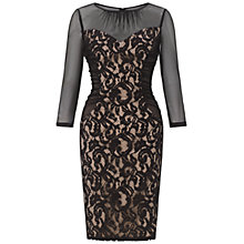 Buy Adrianna Papell Cutaway Sleeve Lace Shift Dress, Black Online at johnlewis.com