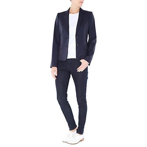 Buy Hobbs Kate Jacket, Light Navy Online at johnlewis.com