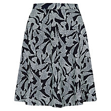 Buy Hobbs Swallow Skirt, Navy Ivory Online at johnlewis.com