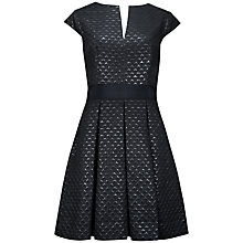 Buy Ted Baker Metallic Jacquard Dress, Black Online at johnlewis.com