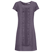 Buy Kaliko Linen Pintuck Dress, Dark Purple Online at johnlewis.com