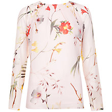 Buy Ted Baker Botanical Bloom Print Blouse, Pale Pink Online at johnlewis.com