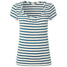 Buy White Stuff Stripe Lana Tee, Ocean Teal Online at johnlewis.com