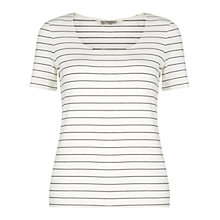 Buy Hobbs Cathy Top, Ivory/Navy Online at johnlewis.com