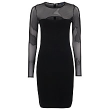 Buy French Connection Valentine Viscose Round Neck Dress, Black Online at johnlewis.com