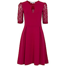 Buy French Connection Valentine Viscose Lace Dress, Berry Punch Online at johnlewis.com