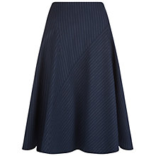 Buy Hobbs Angelina Skirt, Navy/Ivory Online at johnlewis.com