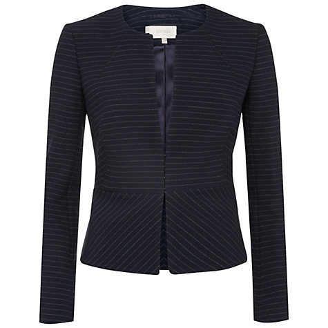 Buy Hobbs Angelina Jacket, Navy Ivory Online at johnlewis.com