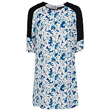 Buy French Connection Porcelain Sheen Dress, Winter White Multi Online at johnlewis.com